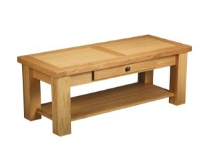 Charltons Bretagne Solid Oak Coffee Table With Draw